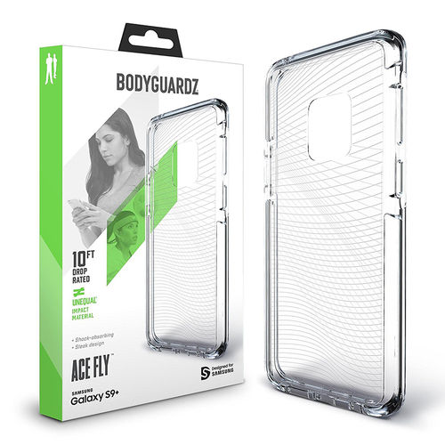 BodyGuardz Ace Fly Unequal Case for Samsung Galaxy S9 Plus - Clear